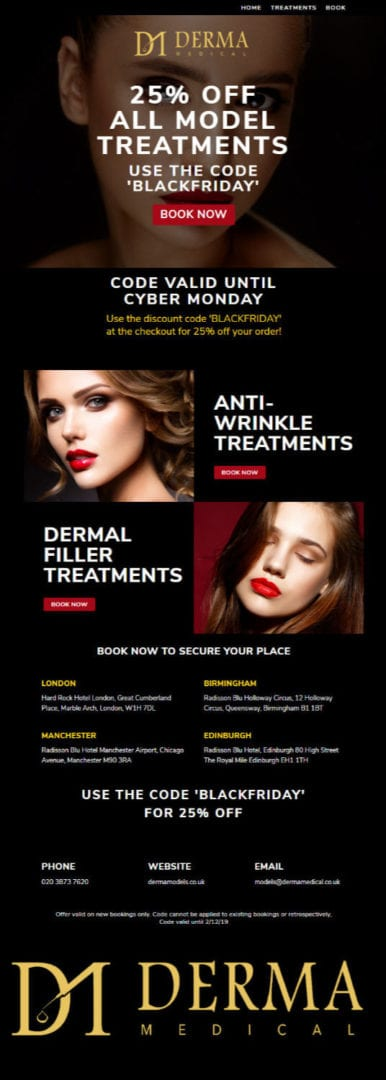 Derma Models Email Campaign