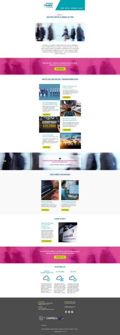 Inspire People Email Campaign