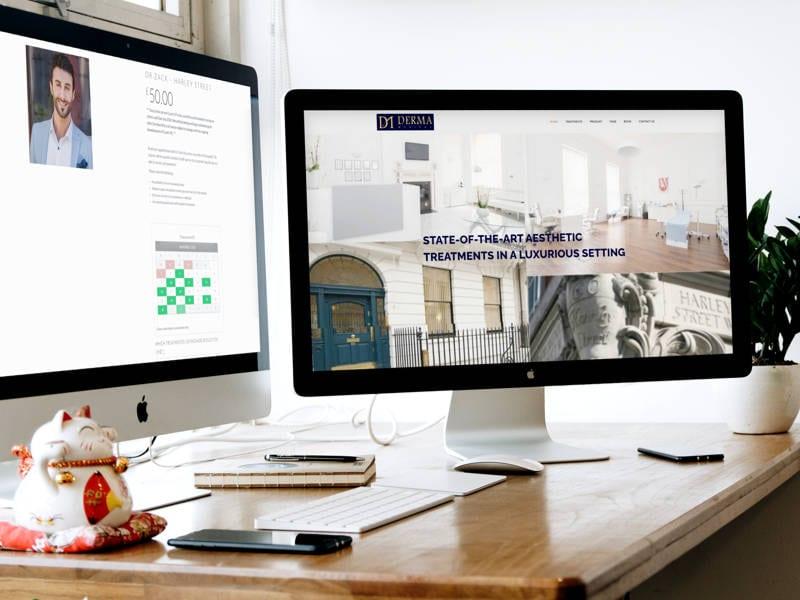 Derma Clinics Website Design