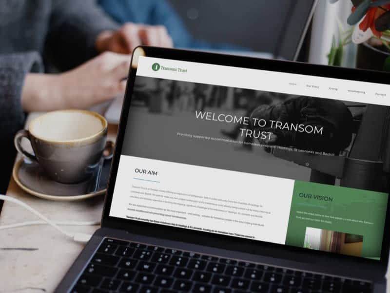 Transom Trust Hompage Design