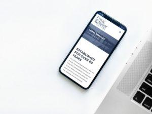 Percy Walker Solicitors iPhone mockup