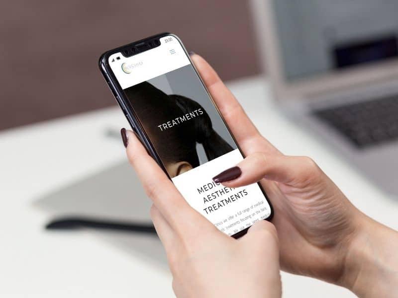 Blu Clinics Phone Mockup