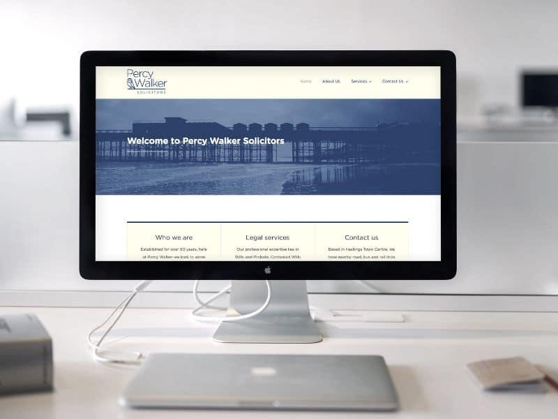 Percy Walker Solicitors iMac mockup