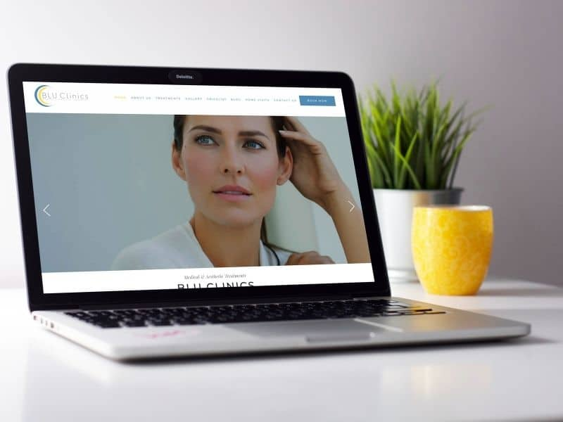 Blu Clinics Laptop Mockup