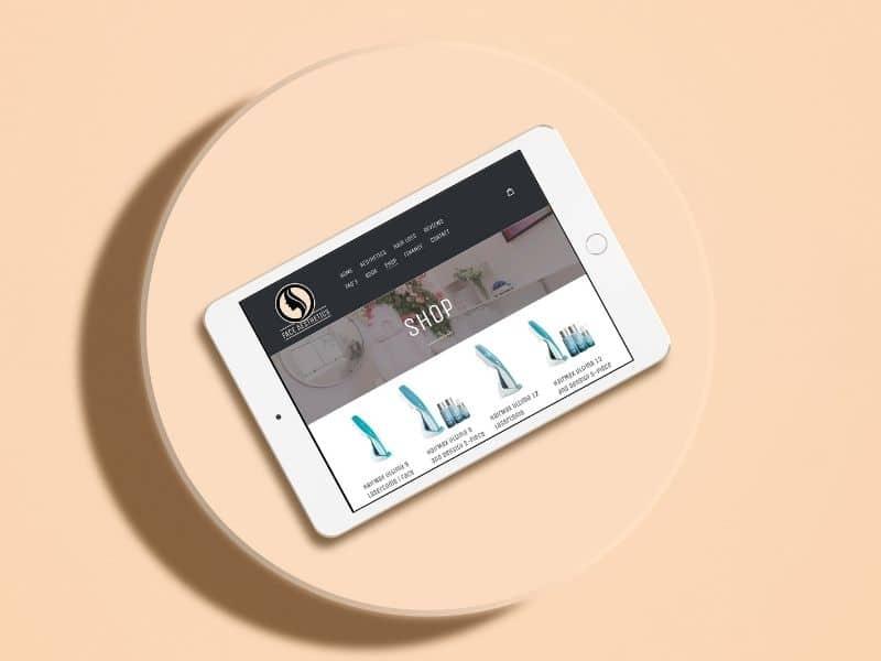 Face Aesthetics iPad Mockup