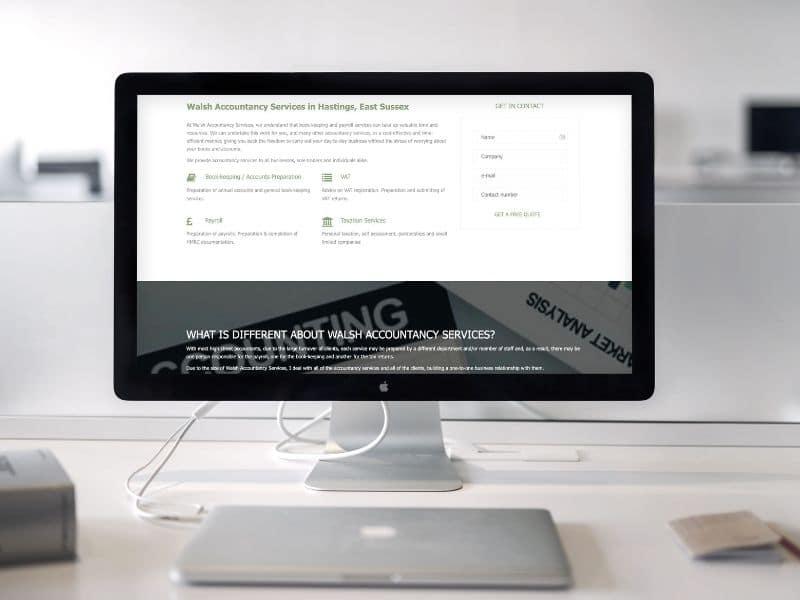 Walsh Accountancy Macbook mockup