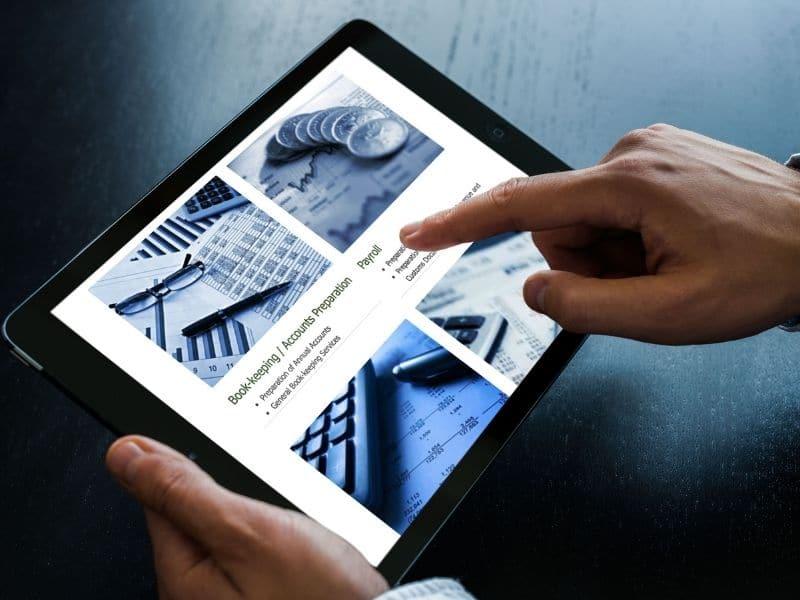 Walsh Accountancy iPad mockup