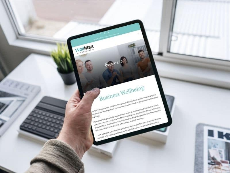 WellMax Coaching iPad mockup