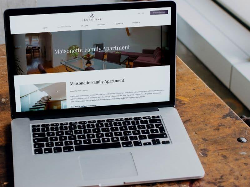 Almandine Apartments Laptop mockup