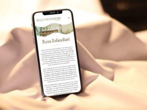 Reza Esfandiari mobile mockup