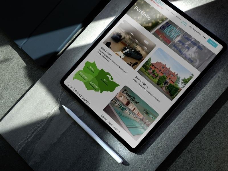 G M Monk iPad mockup