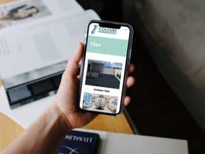 Colours Tiles phone mockup