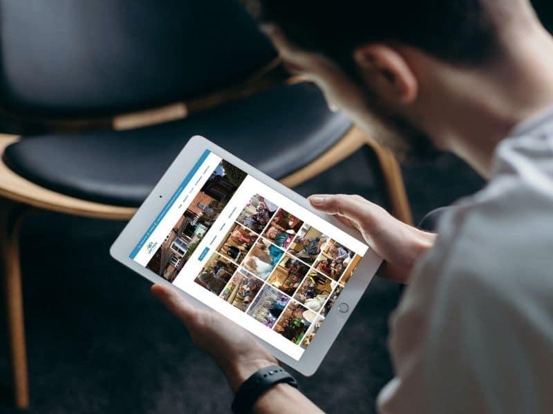 Crest House Care Home iPad Mockup