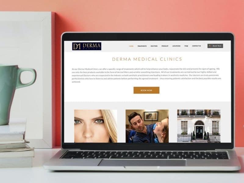 Derma Clinics Desktop Mockup