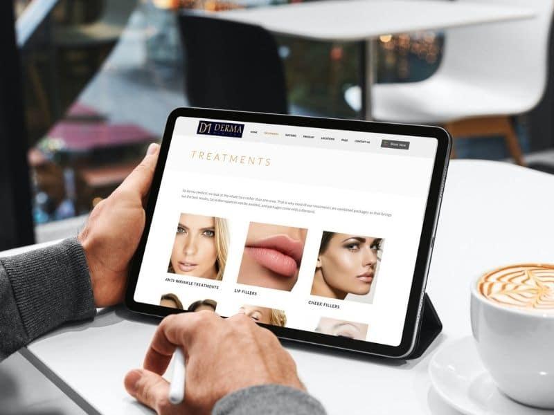 Derma Clinics iPad Mockup