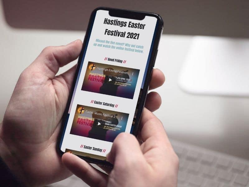 Easter Music Festival phone mockup