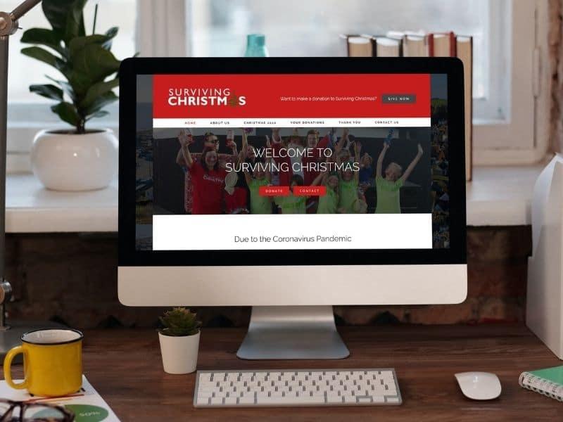 Surviving Christmas Desktop Mockup