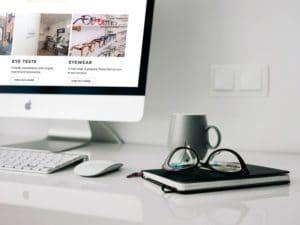 Louise Sloan Opticians Desktop mockup