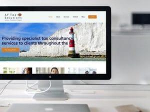 AF Tax desktop mockup