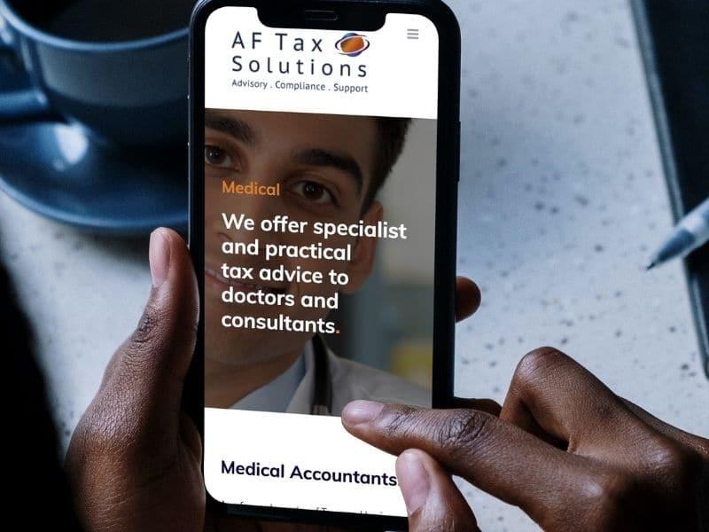 AF Tax phone mockup
