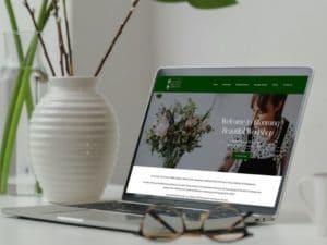 Blooming beautiful workshop website mockup